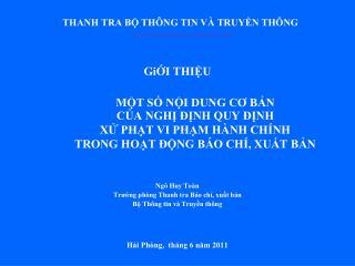 THANH TRA B TH NG TIN V  TRUYN TH NG