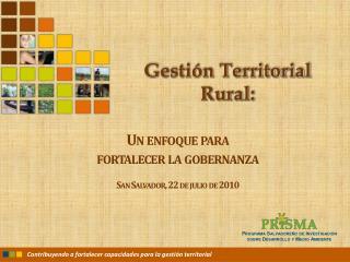Gesti n Territorial Rural: