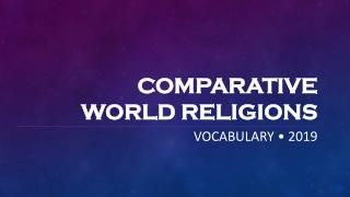 Comparative Religion: Basic Vocabulary and Etymology