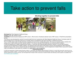Take action to prevent falls