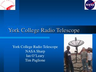 York College Radio Telescope