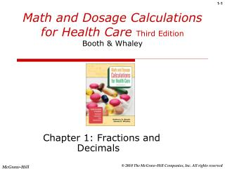 Math and Dosage Calculations for Health Care Third Edition Booth  Whaley