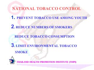 NATIONAL TOBACCO CONTROL