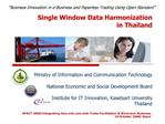 Single Window Data Harmonization  in Thailand