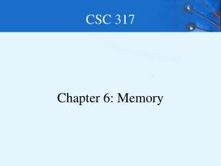 CSC 317