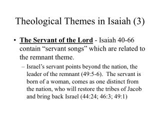 Theological Themes in Isaiah 3