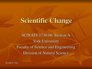 Scientific Change