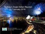 Sydney s Anglo Indian Reunion 17th   23rd January 2016