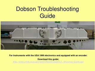 Dobson Troubleshooting Guide