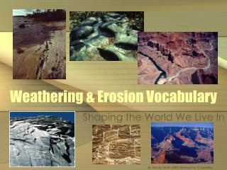 Weathering  Erosion Vocabulary