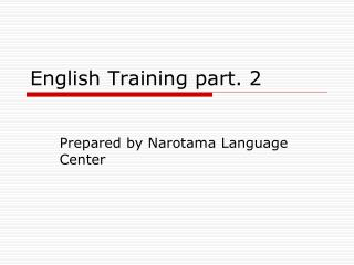 English Training part. 2