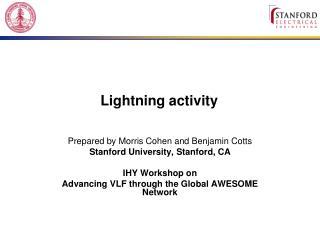 Lightning activity