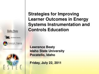 Strategies for Improving Learner Outcomes in Energy Systems Instrumentation and Controls Education