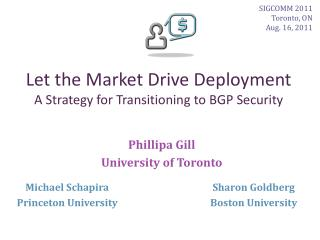Let the Market Drive Deployment A Strategy for Transitioning to BGP Security