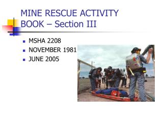 MINE RESCUE ACTIVITY  BOOK   Section III