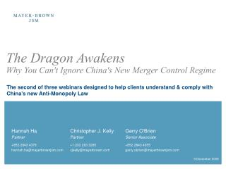 The Dragon Awakens  Why You Cant Ignore Chinas New Merger Control Regime
