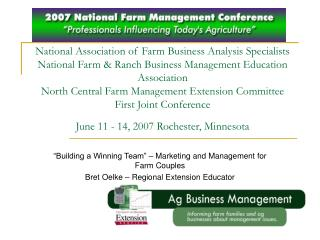 National Association of Farm Business Analysis Specialists National Farm  Ranch Business Management Education Associatio