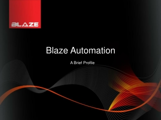 BLAZE AUTOMATION brief profile Trailblazer TORCH