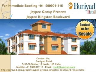 Jaypee Kingston Boulevard Resale @ 9999011115