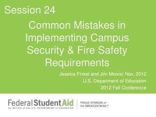Common Mistakes in Implementing Campus Security  Fire Safety Requirements