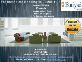 Jaypee Knight Court Resale 9999011115 Buniyad.com