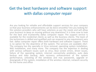 Dallas Computer Repair