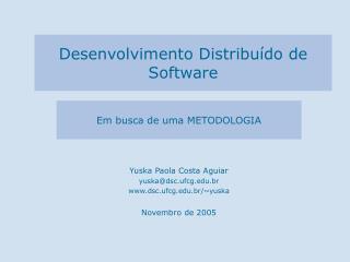 Desenvolvimento Distribu do de Software