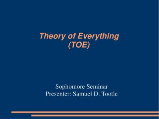 Theory of Everything TOE