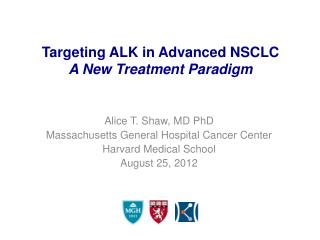 Targeting ALK in Advanced NSCLC  A New Treatment Paradigm