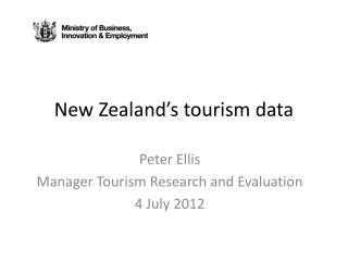 New Zealand s tourism data