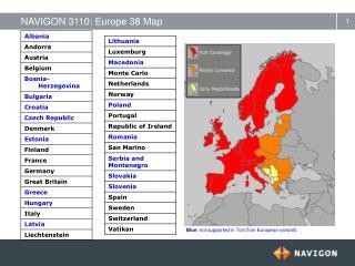 NAVIGON 3110: Europe 38 Map