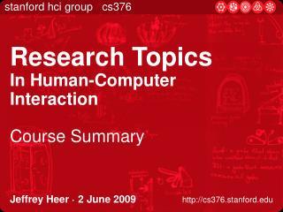 Jeffrey Heer   2 June 2009