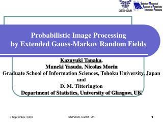 Probabilistic Image Processing by Extended Gauss-Markov Random Fields