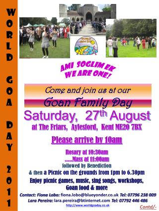Come and join us at our Goan Family Day