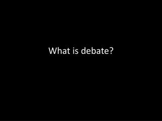 CX Debate