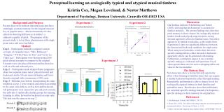 Perceptual learning on ecologically typical and atypical musical timbres