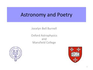 Astronomy and Poetry