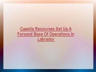 Capella Resources