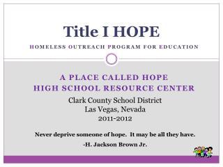 Title I HOPE