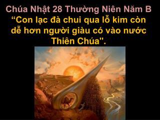 Ch a Nht 28 Thung Ni n Nam B  Con lc d  chui qua l kim c n d hon ngui gi u c  v o nuc Thi n Ch a.