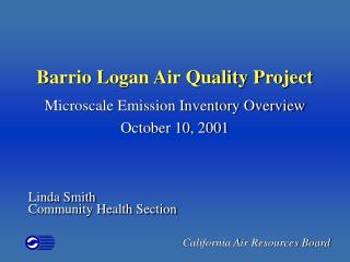 Barrio Logan Air Quality Project