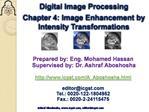 Prepared by: Eng. Mohamed Hassan  Supervised by: Dr. Ashraf Aboshosha  icgst
