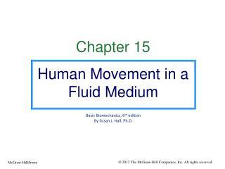 Chapter 15 Human Movement in a Fluid Medium