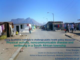 Using qualitative methods to challenge public health policy discourse: Physical activity, noncommunicable disease and we