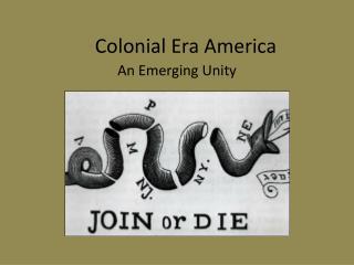 Colonial Era America