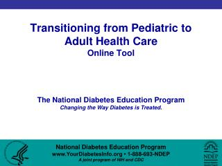 Transitioning from Pediatric to Adult Health Care Online Tool