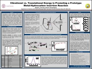 Vibrational vs. Translational Energy in Promoting a Prototype Metal-Hydrocarbon Insertion Reaction David L. Proctor and