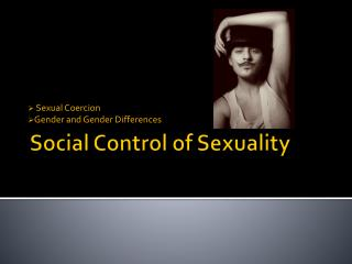 Social Control of Sexuality