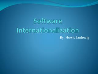 Software Internationalization