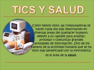 TICS Y SALUD